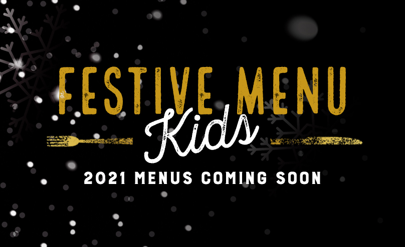 Festive Kids Menu at ONeills Virtual