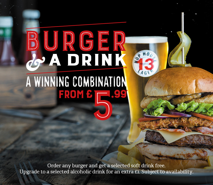 Burger & Drink deal