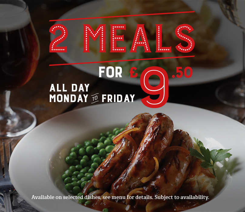 Two meals for less