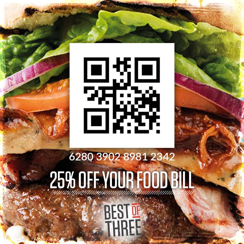25% off your food bill