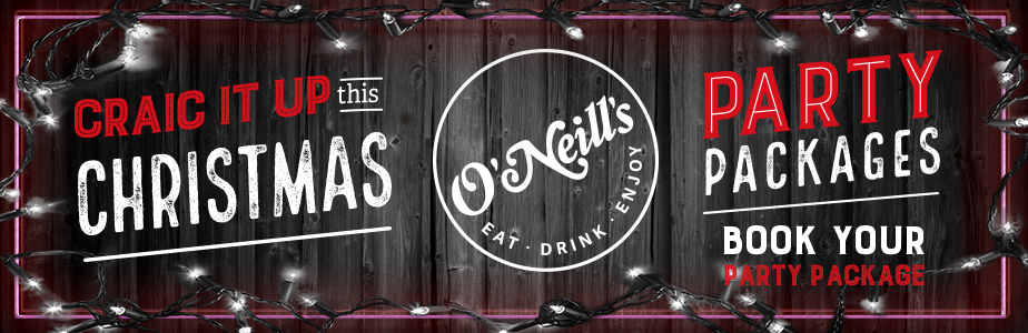 Book your Party Packages at O'Neill's Peterborough